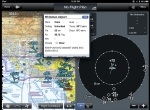 Garmin's GDL 39 ADS-B receiver displays weather and traffic information on the Garmin Pilot iPad app.