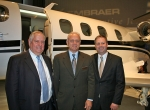 The first U.S.-assembled Phenom 100 light jet was delivered yesterday to Kansas