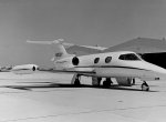 The first production Learjet (S/N 23-003) being readied for delivery to Cincinnati's Chemical and Industrial Corp. in 1964.