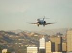bizjet landing at Santa Monica