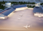 Artist rendering of the Aerospace Centre