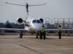 Phenom 300 on the ramp at Sorocaba