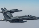 CF-18A Hornets in the air