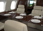 Global 7000 dining cabin