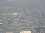 aerial view flooded New Orleans