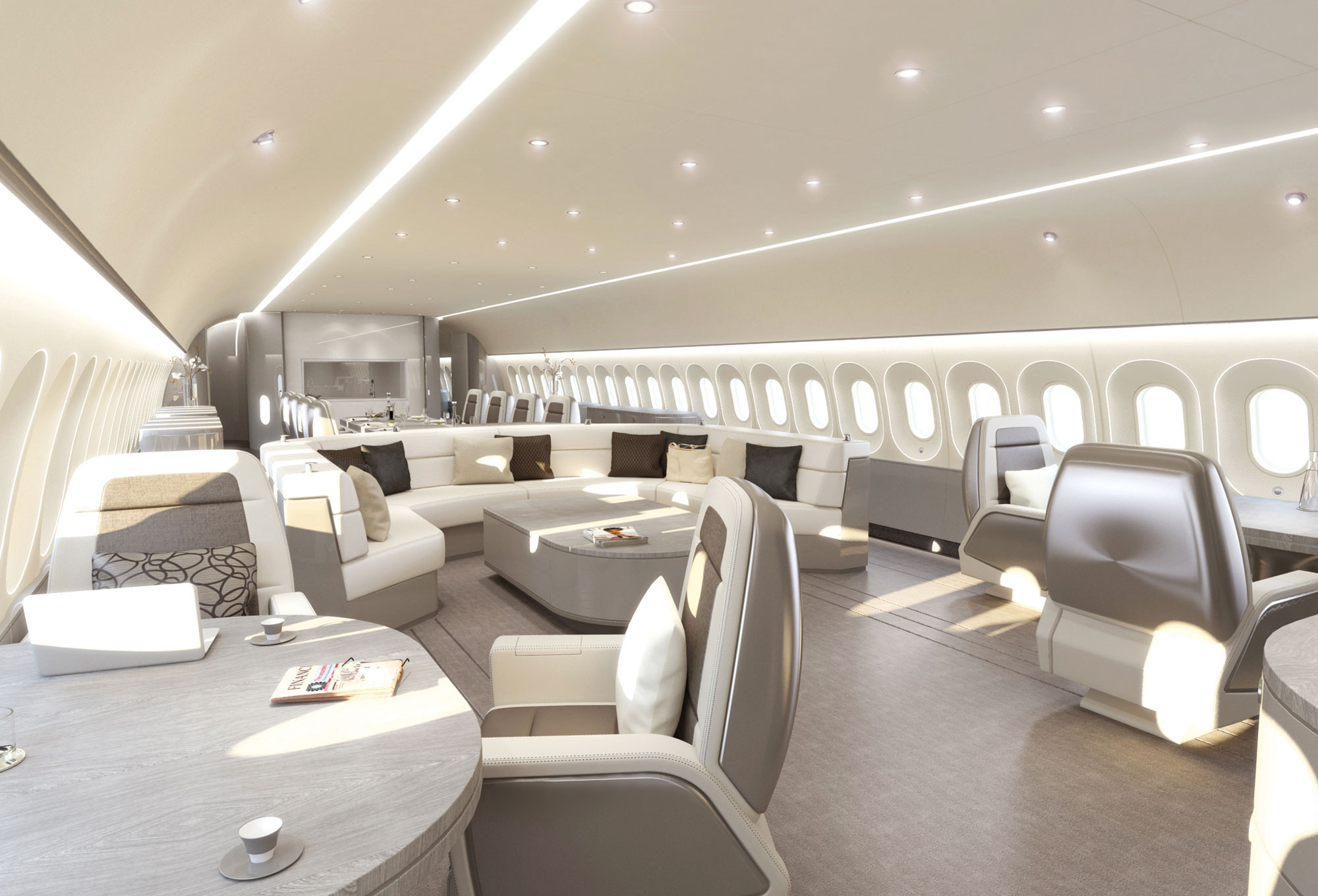 Luxury vip cabins increasing in popularity business for Aircraft interior designs