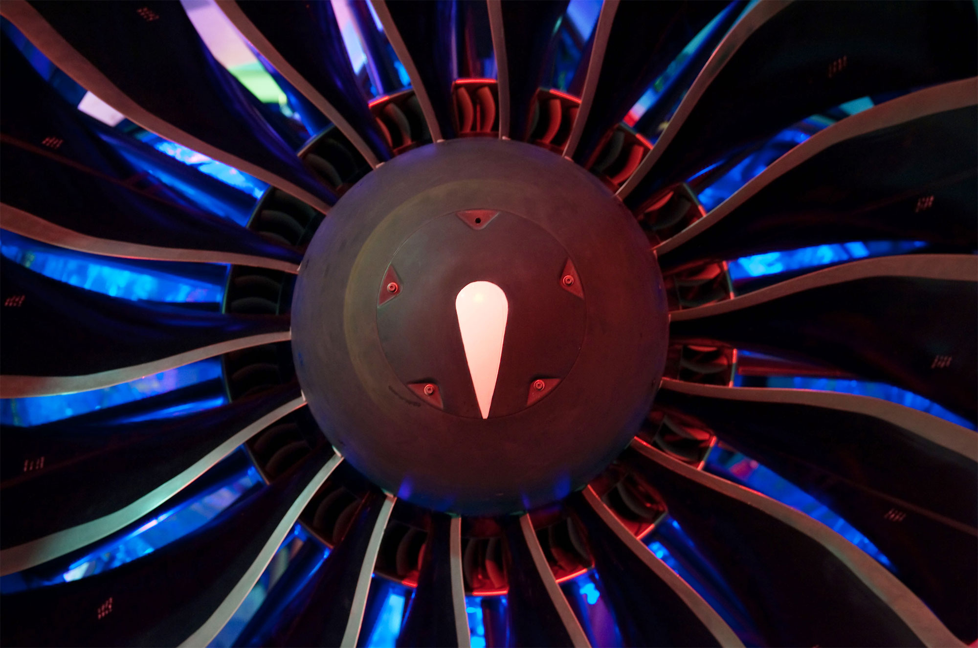 Jet Engine Fan Blades : Pratt alcoa pioneer use of aluminum fan blades air