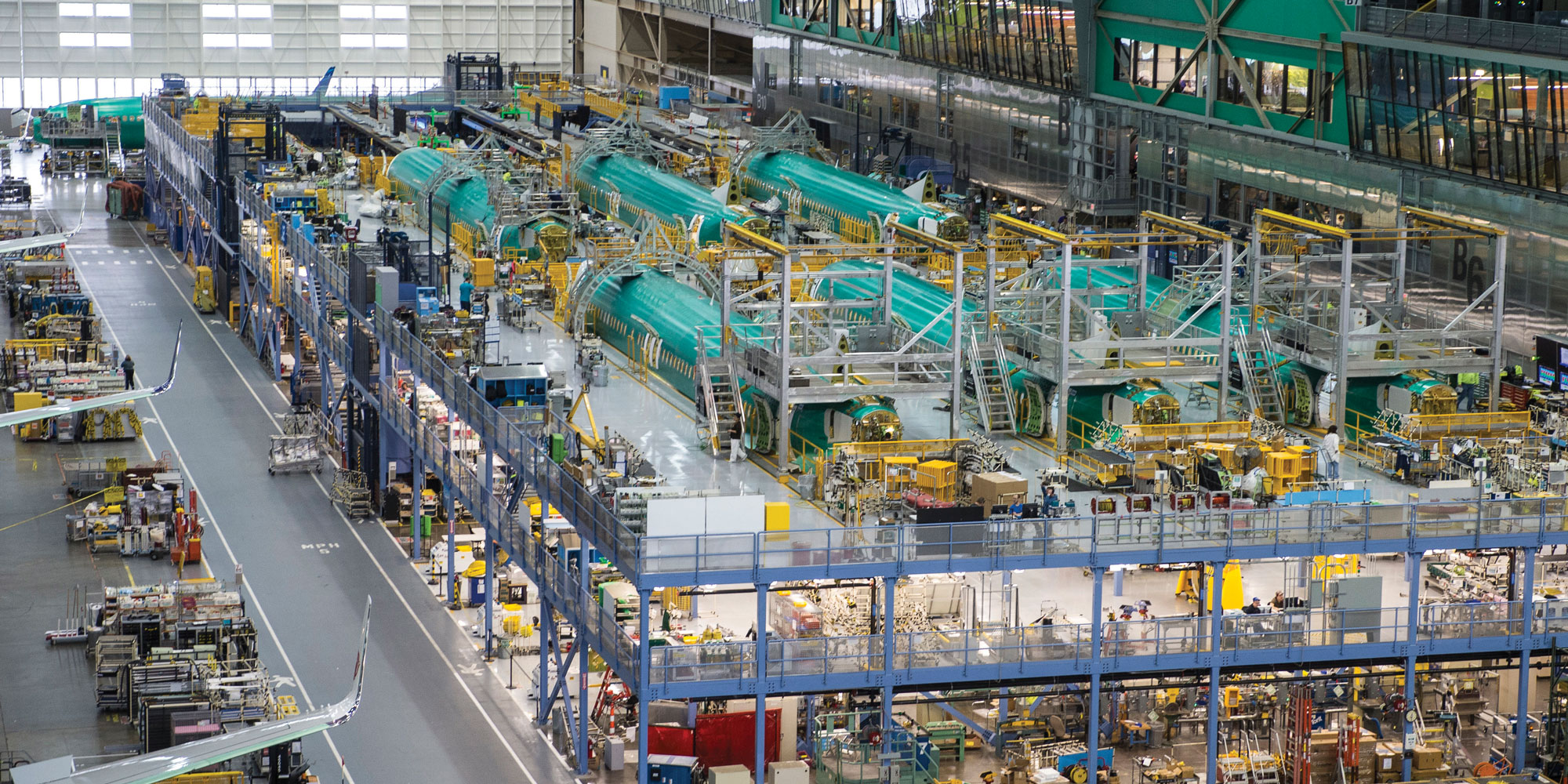 Boeing s new panel assembly line pal cuts flow time by 33 percent