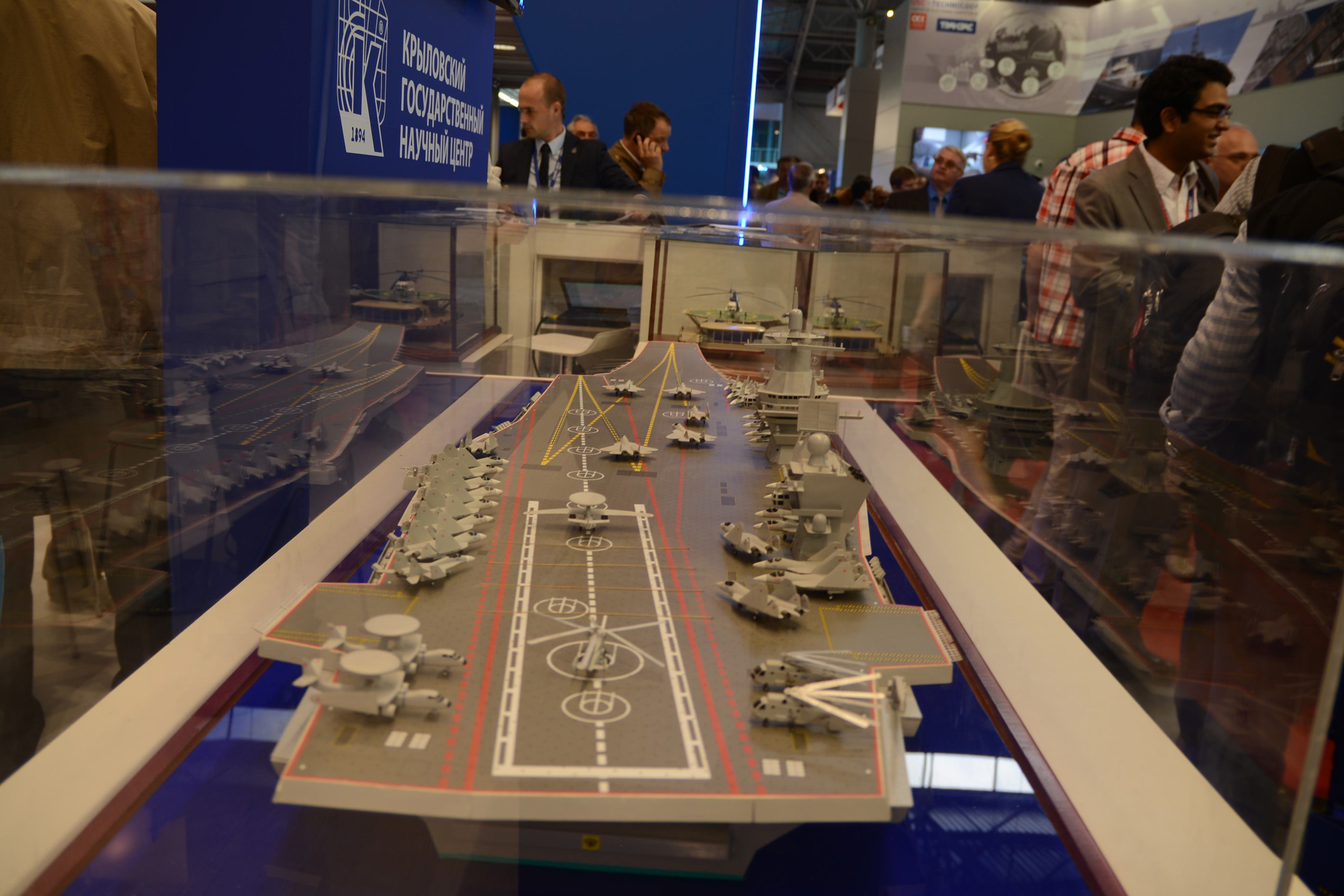 Aircraft carrier models large scale - A Scale Model Of A Large Aircraft Carrier On Display At A Maritime And Defense Show In St Petersburg Russia Photo Vladimir Karnozov