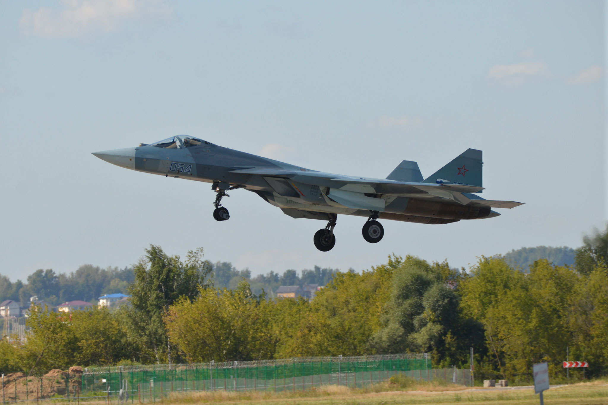 Airplane T-50-11 arrived in Zhukovsky 77