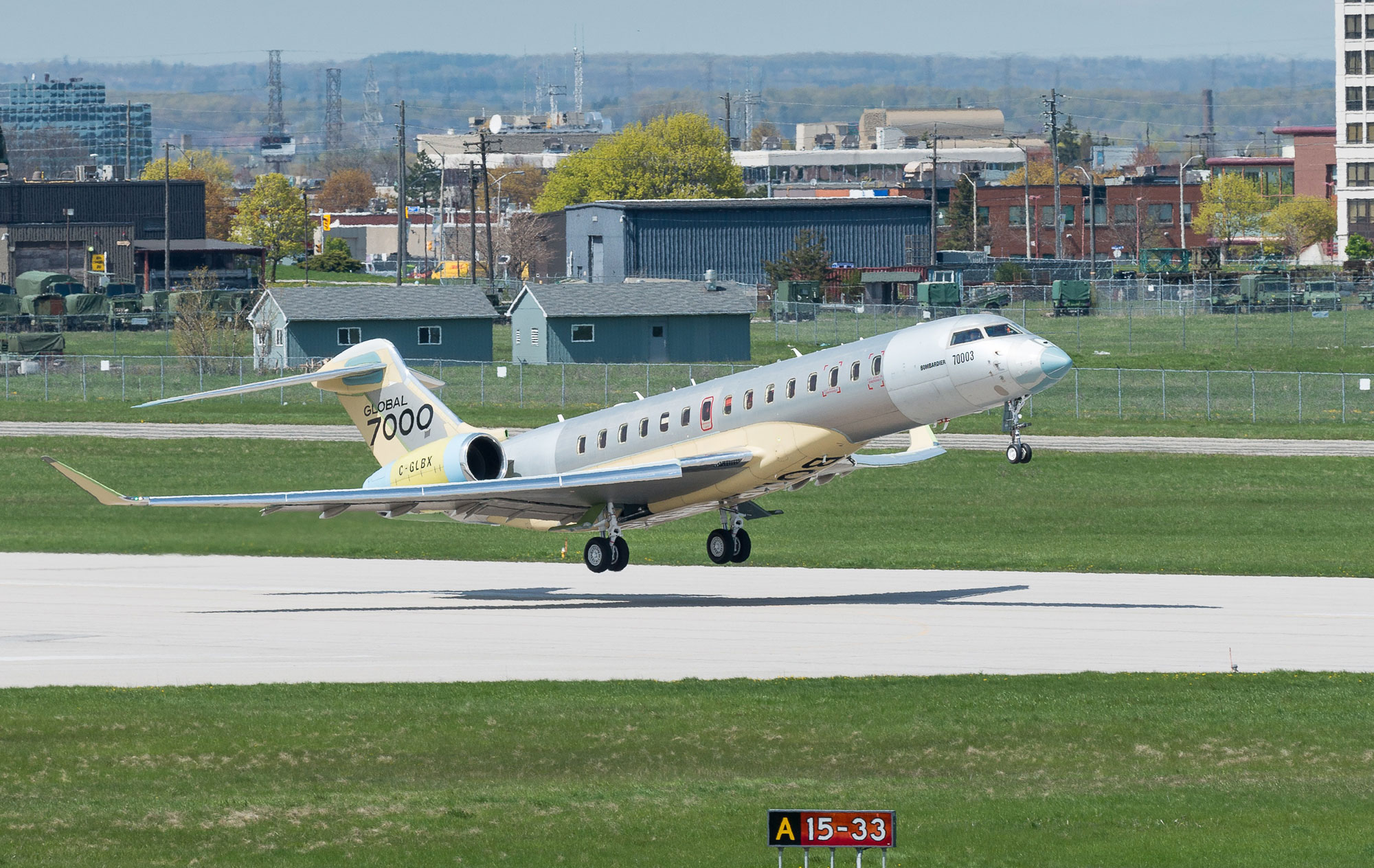 Bombardier's third Global 7000 test aircraft makes maiden flight
