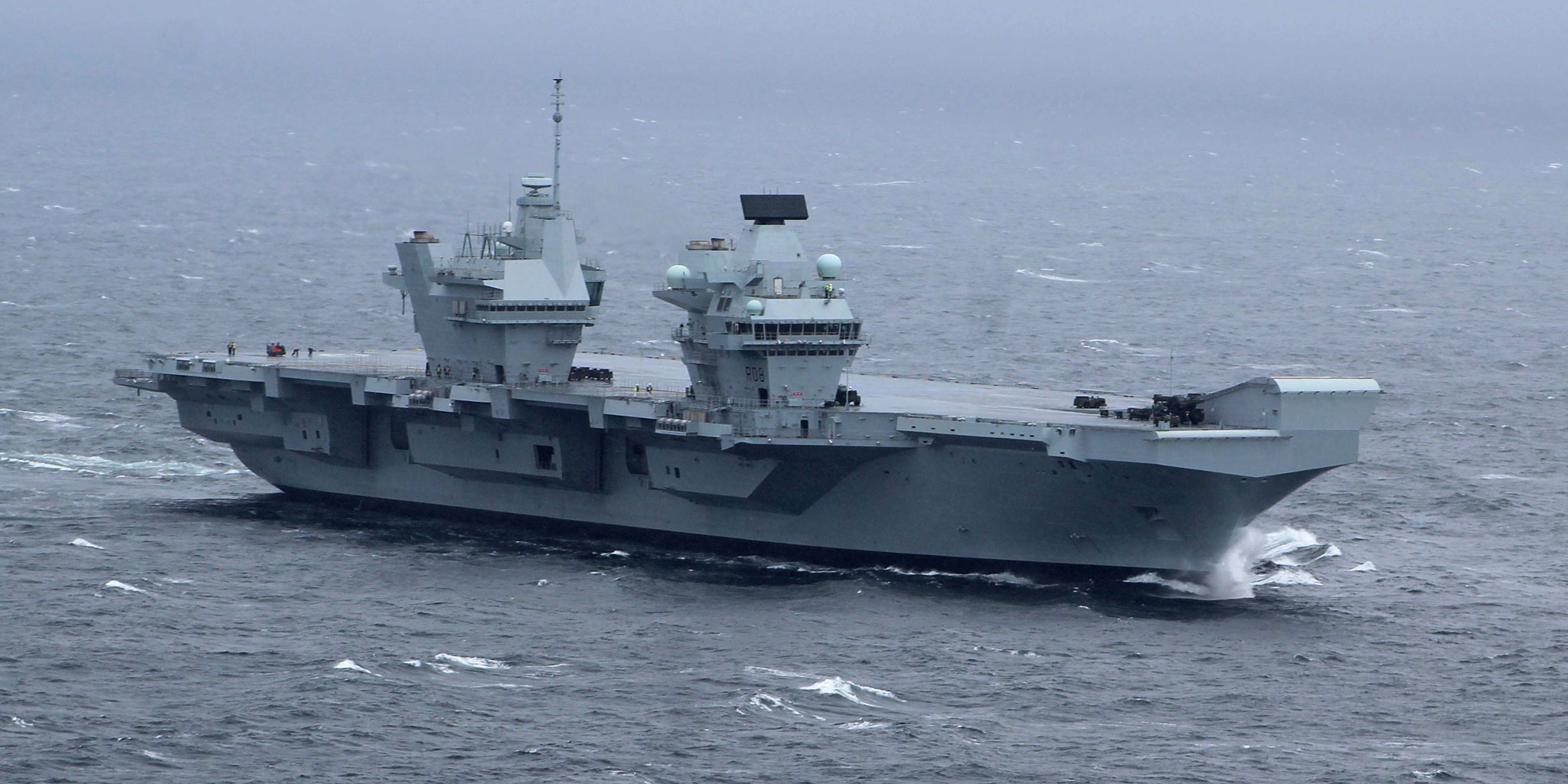 Britain's New Aircraft Carrier Starts Sea Trials