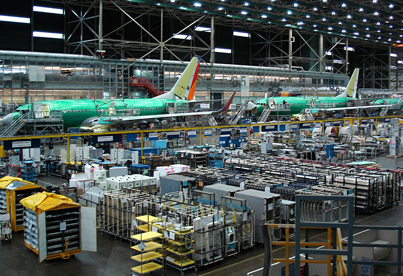 Production at boeing s 737 plant in renton wash has increased to